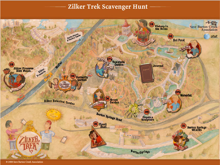 Zilker Trek Map