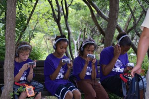 Kids at the Austin Sunshine Camp use the Zilker Trek